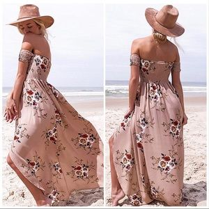 Dresses & Skirts - 5 ⭐️' Lille' Floral Strapless Summer Maxi Dress